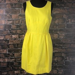 J. Crew yellow dress size 4 with pockets
